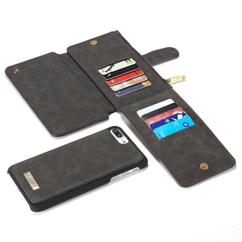 Multi-slot Flipdeksel iPhone 7 Plus/8 Plus grå