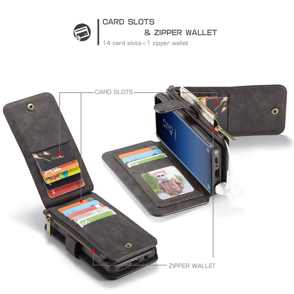 Multi-slot Flipdeksel Samsung Galaxy S9 Plus grå