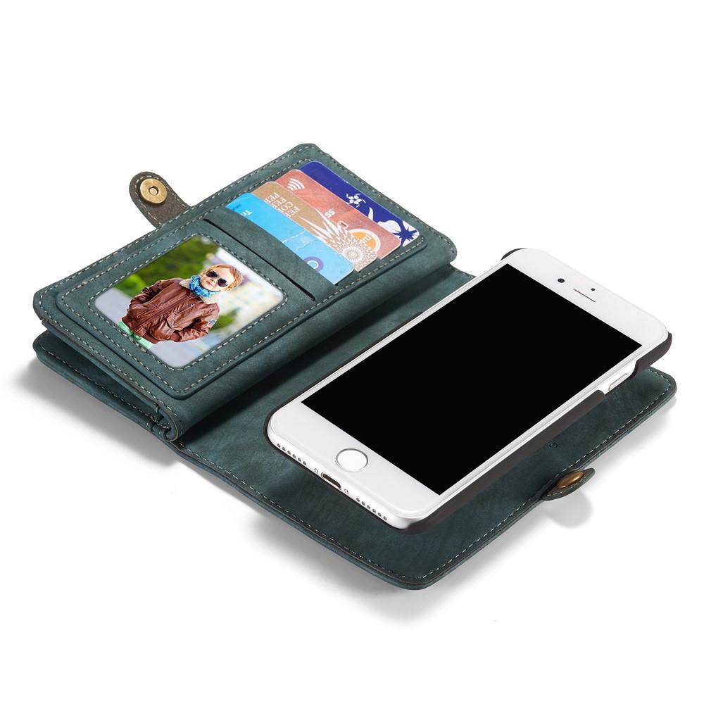 Multi-slot Lommeboksetui iPhone 7/8/SE 2020 blå