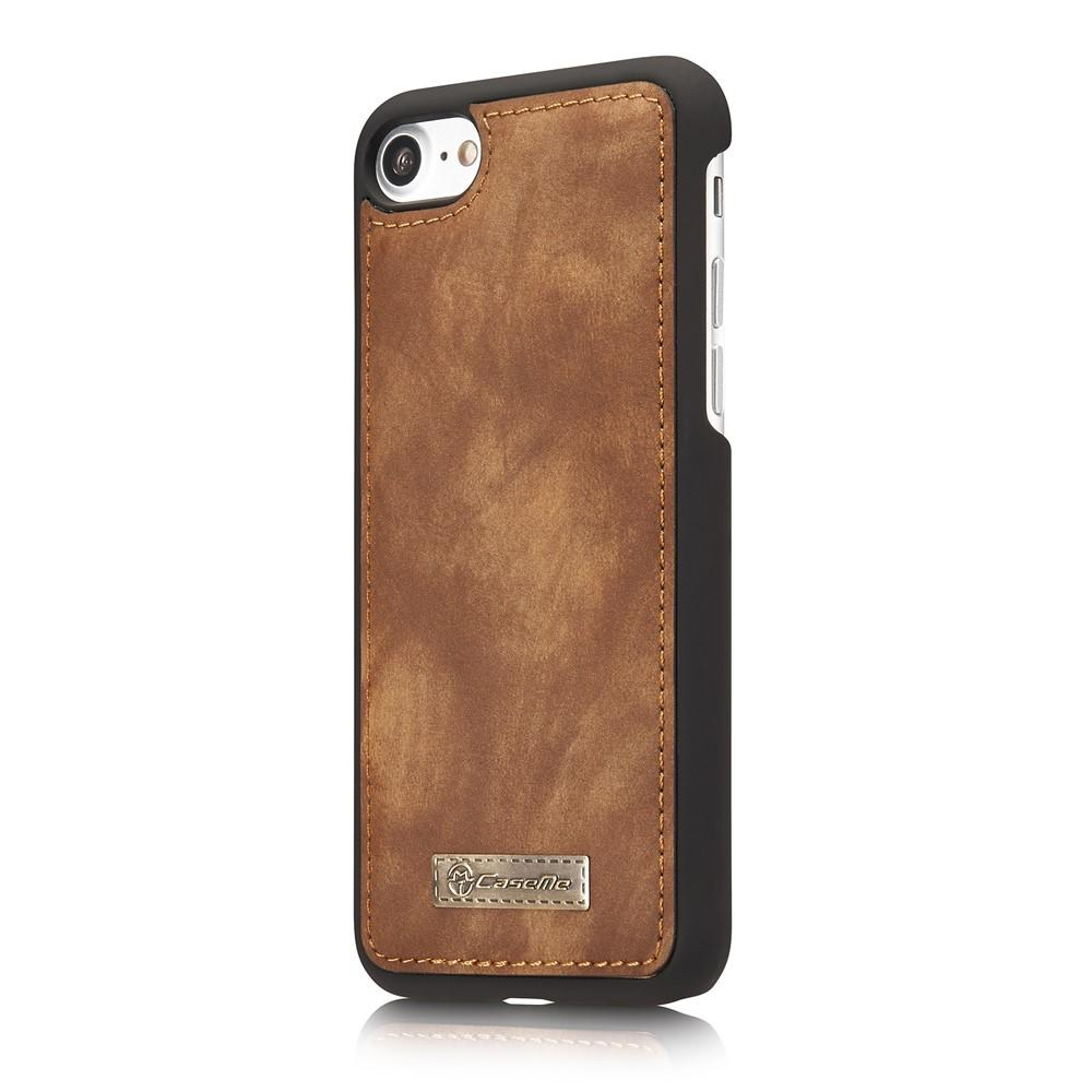 Multi-slot Lommeboksetui iPhone 7/8/SE 2020 brun