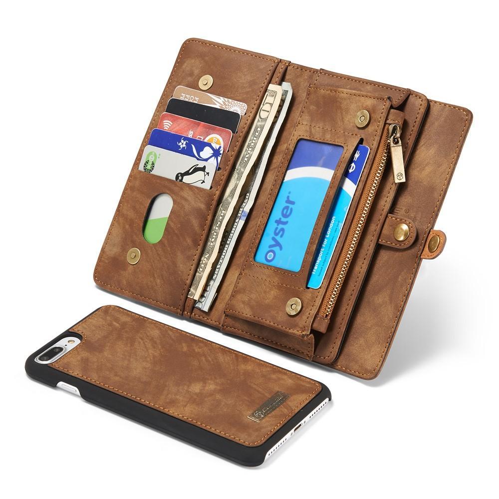Multi-slot Lommeboksetui iPhone 7 Plus/8 Plus brun