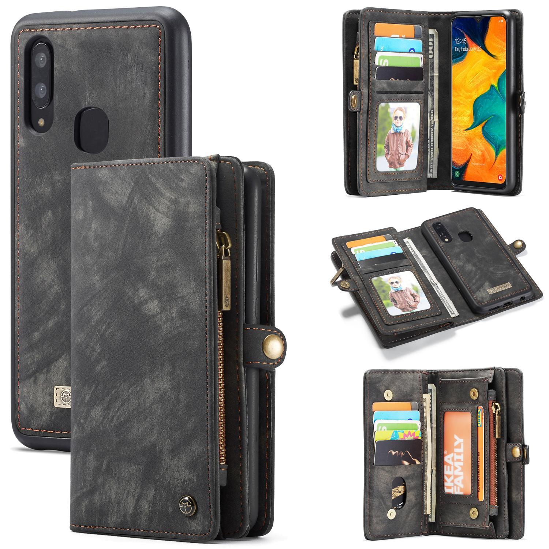Multi-slot Lommeboksetui Galaxy A40 grå