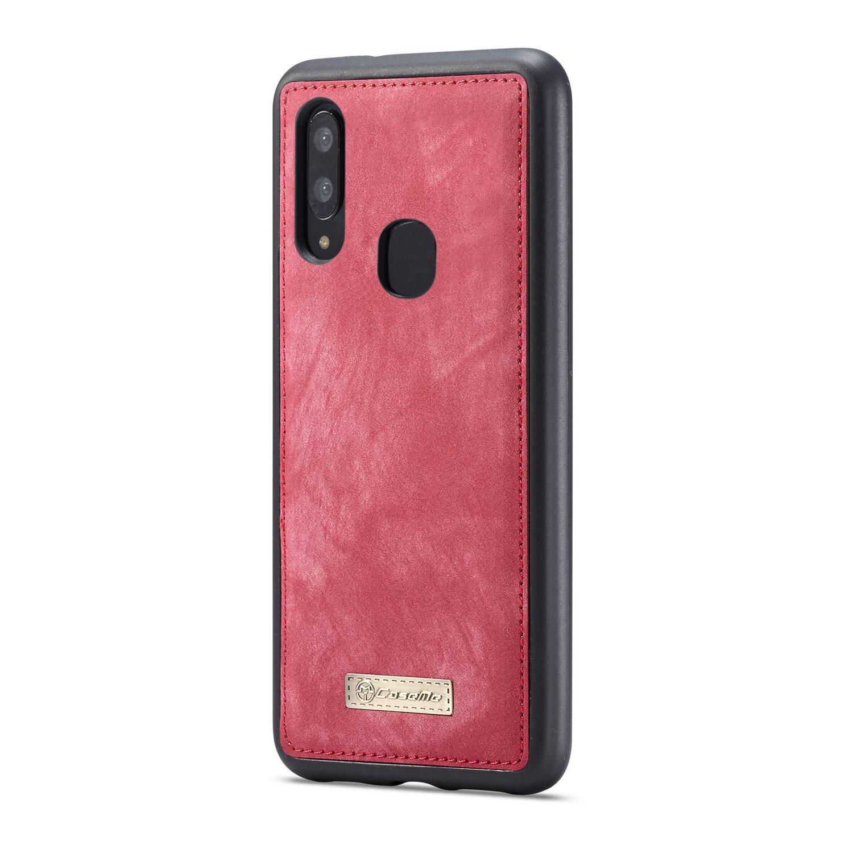 Multi-slot Lommeboksetui Galaxy A40 rød
