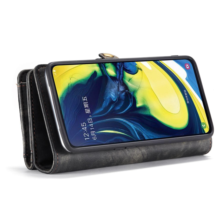 Multi-slot Lommeboksetui Galaxy A80 grå