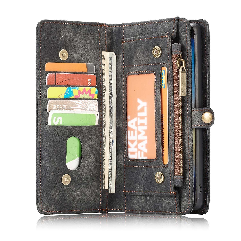 Multi-slot Lommeboksetui Galaxy Note 10 Plus grå
