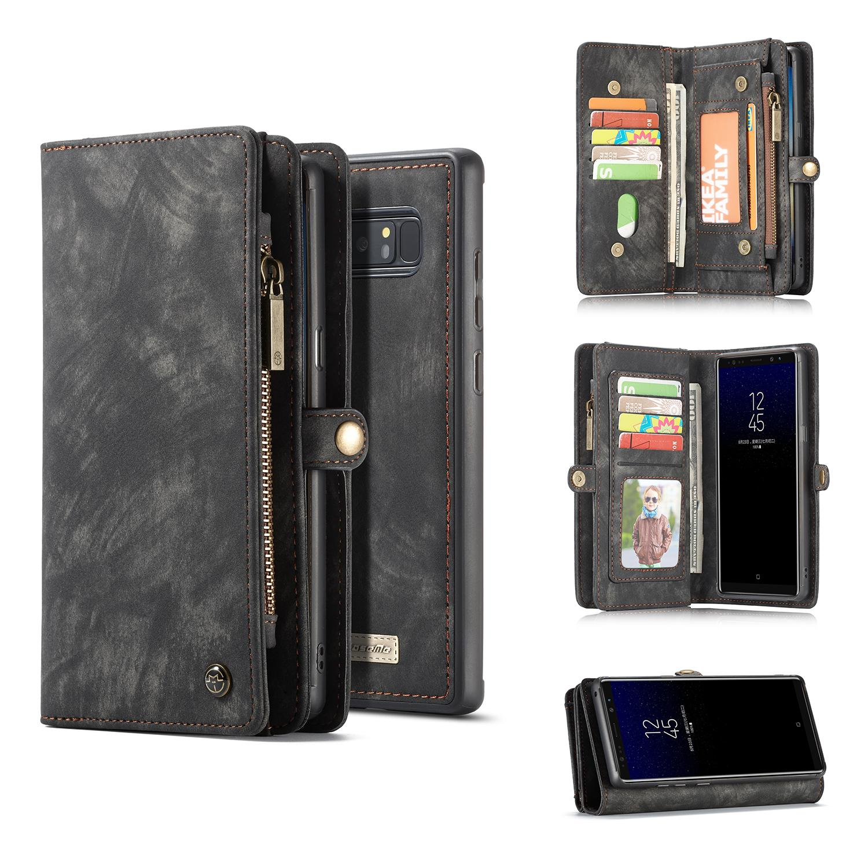 Multi-slot Lommeboksetui Galaxy Note 8 grå