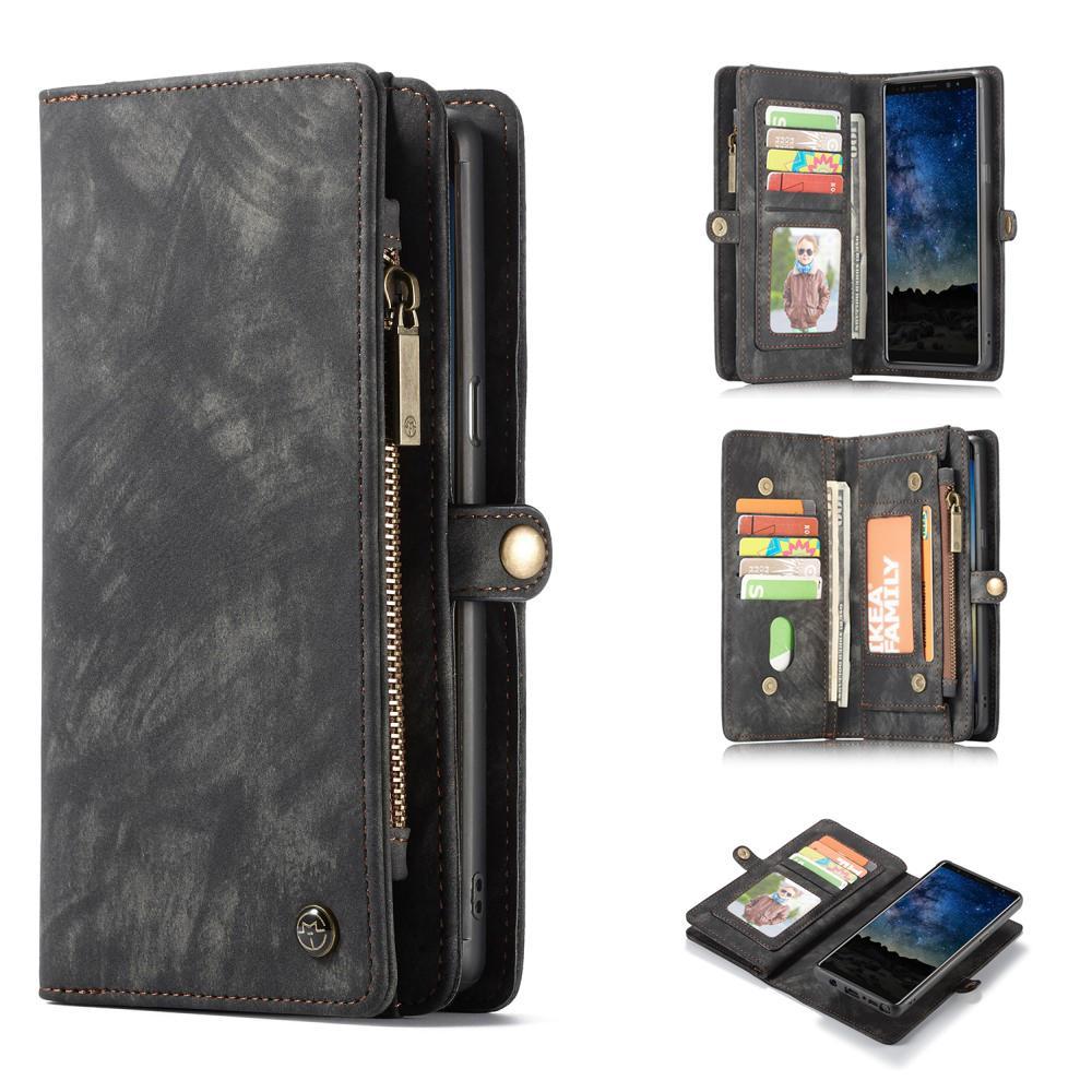 Multi-slot Lommeboksetui Galaxy Note 9 grå