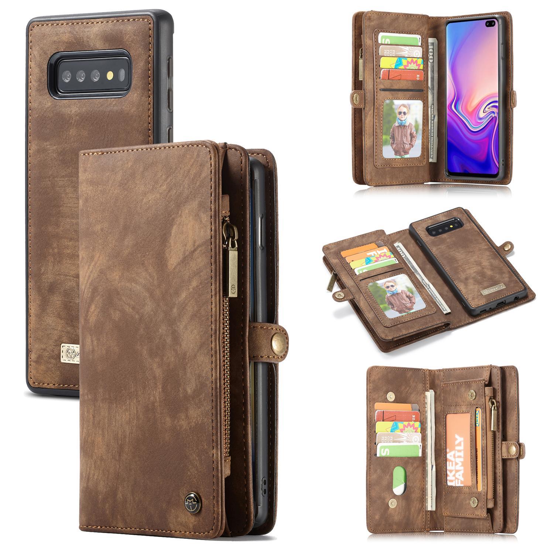 Multi-slot Lommeboksetui Galaxy S10 Plus brun