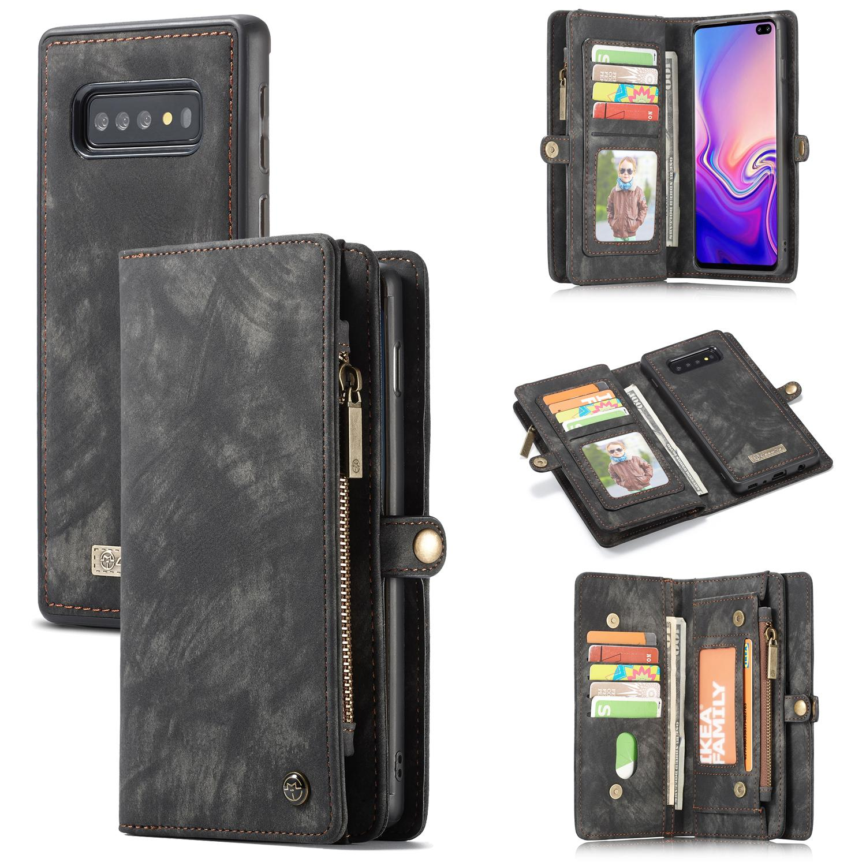 Multi-slot Lommeboksetui Galaxy S10 Plus grå
