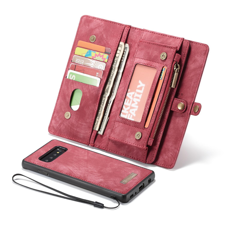 Multi-slot Lommeboksetui Galaxy S10 Plus rød
