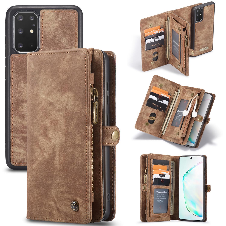 Multi-slot Lommeboksetui Galaxy S20 Plus brun