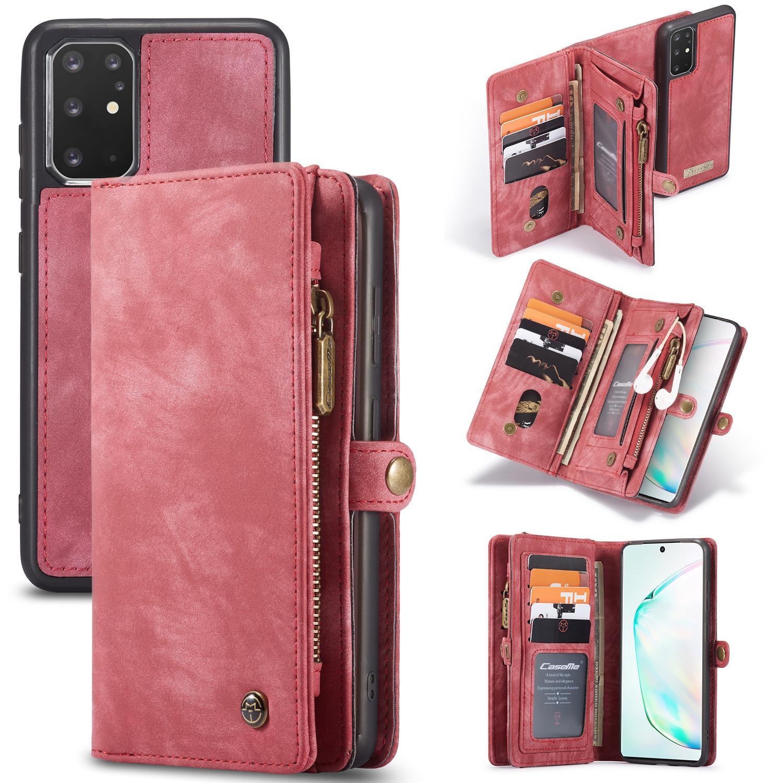 Multi-slot Lommeboksetui Galaxy S20 Plus rød
