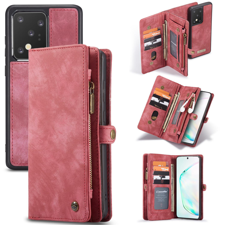 Multi-slot Lommeboksetui Galaxy S20 Ultra rød