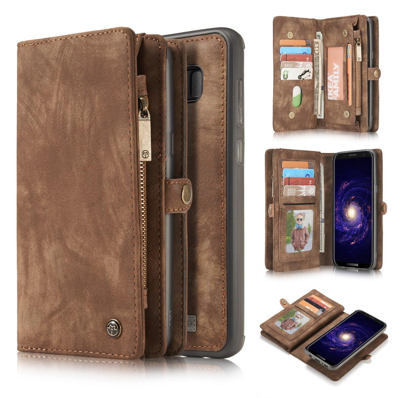 Multi-slot Lommeboksetui Galaxy S8 brun
