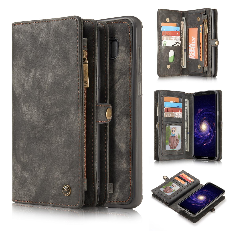 Multi-slot Lommeboksetui Galaxy S8 grå
