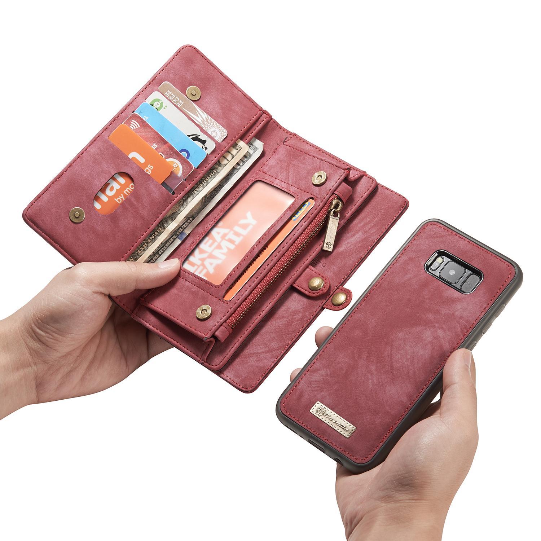 Multi-slot Lommeboksetui Galaxy S8 Plus rød