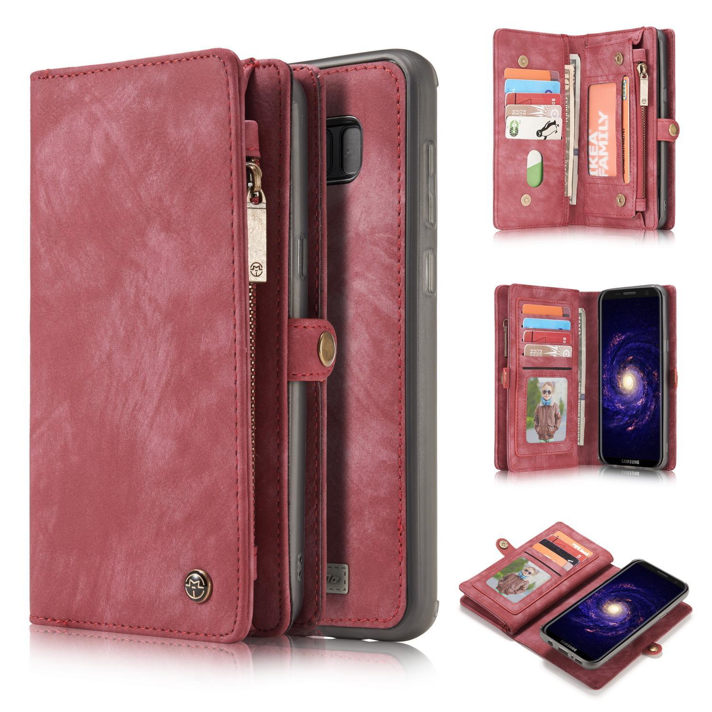 Multi-slot Lommeboksetui Galaxy S8 rød