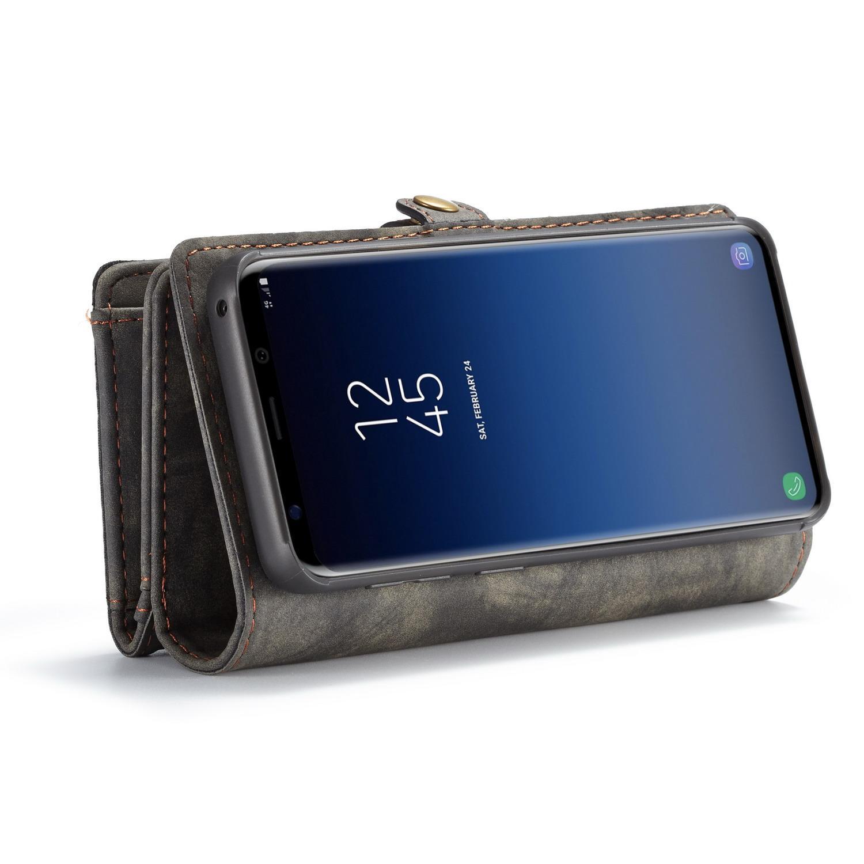 Multi-slot Lommeboksetui Galaxy S9 Plus grå
