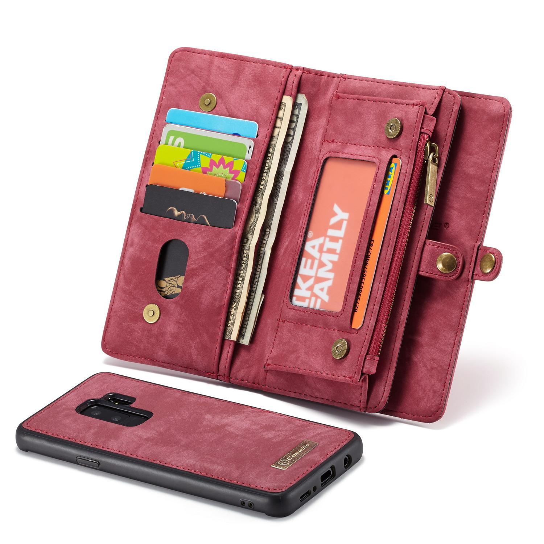 Multi-slot Lommeboksetui Galaxy S9 Plus rød