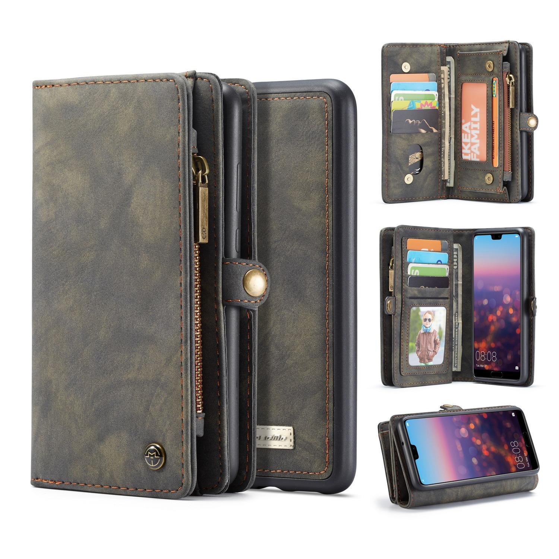 Multi-slot Lommeboksetui Huawei P20 grå