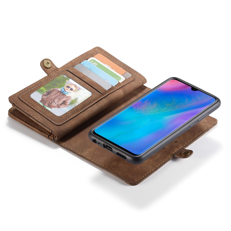 Multi-slot Lommeboksetui Huawei P30 brun