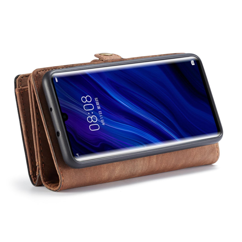 Multi-slot Lommeboksetui Huawei P30 Pro brun