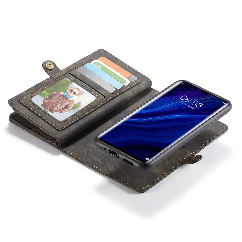 Multi-slot Lommeboksetui Huawei P30 Pro grå