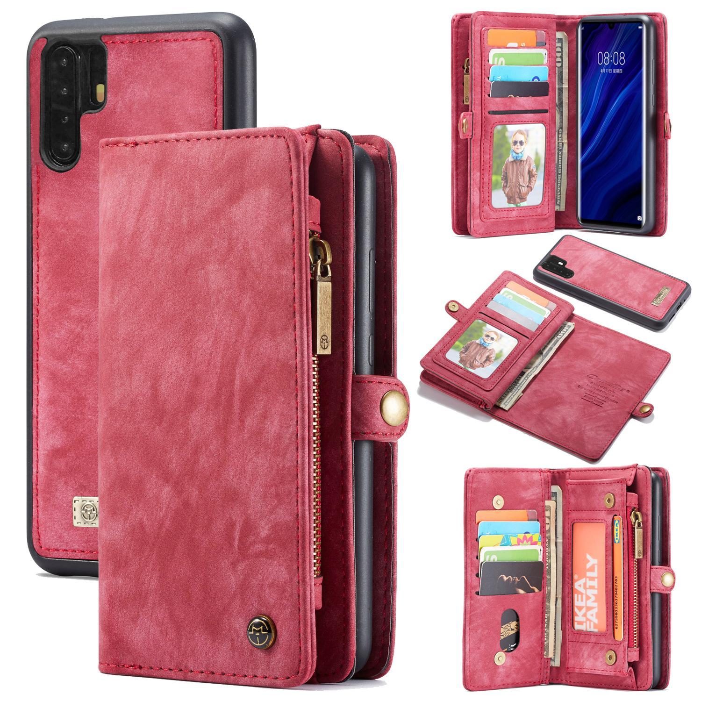 Multi-slot Lommeboksetui Huawei P30 Pro rød