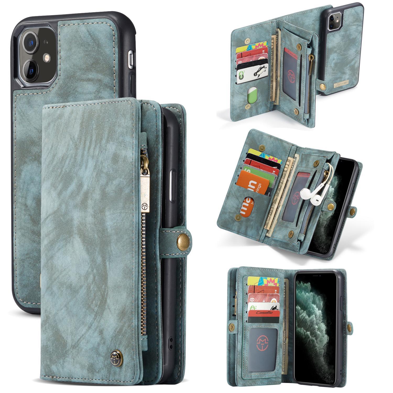 Multi-slot Lommeboksetui iPhone 11 blå