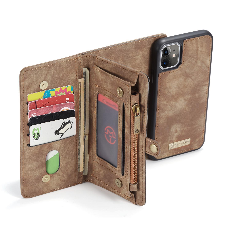 Multi-slot Lommeboksetui iPhone 11 brun