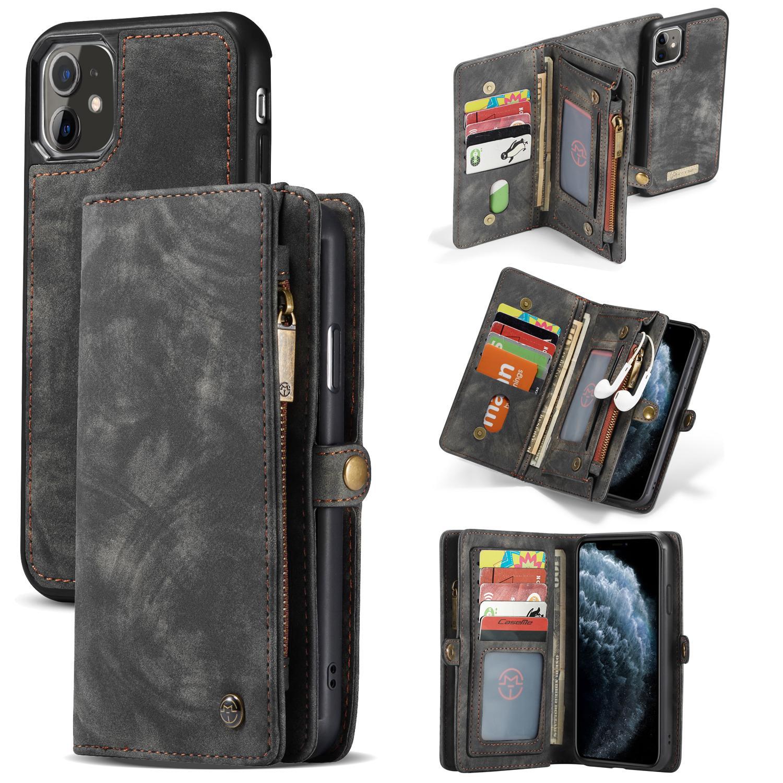 Multi-slot Lommeboksetui iPhone 11 grå