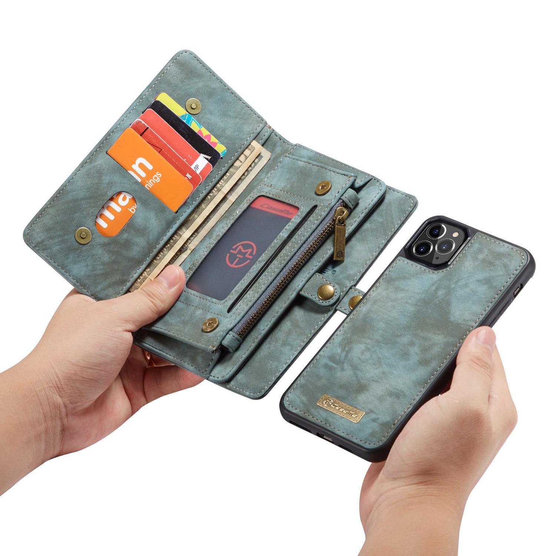 Multi-slot Lommeboksetui iPhone 11 Pro blå