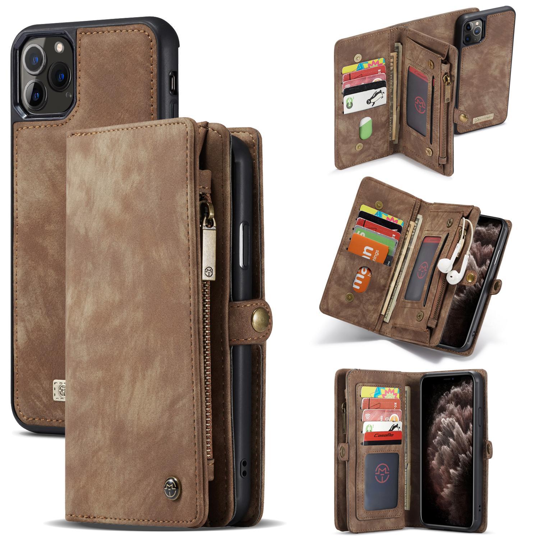 Multi-slot Lommeboksetui iPhone 11 Pro brun