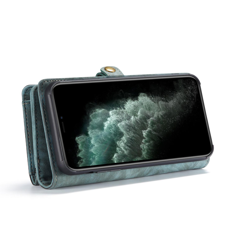 Multi-slot Lommeboksetui iPhone 11 Pro Max blå