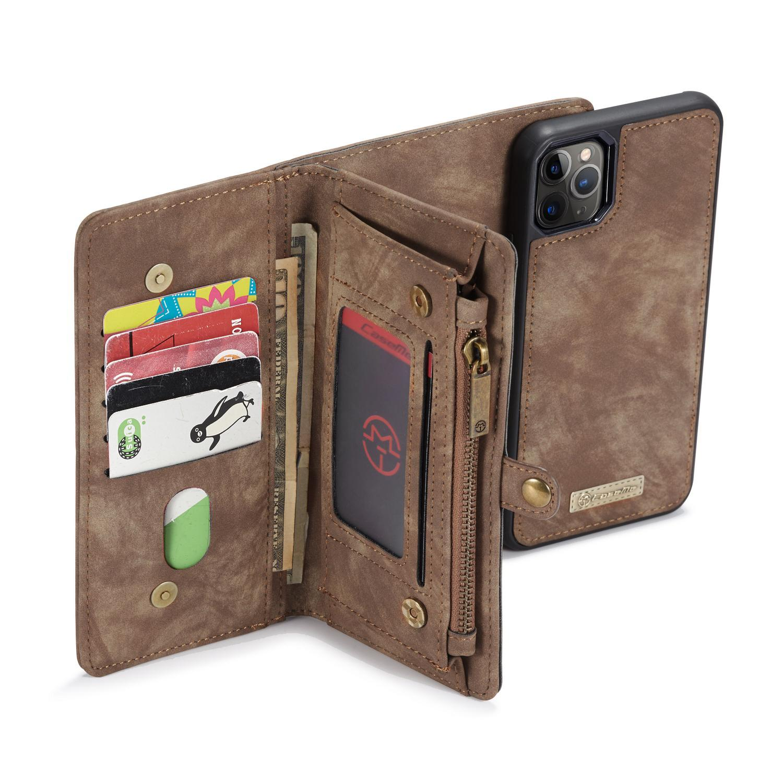 Multi-slot Lommeboksetui iPhone 11 Pro Max brun