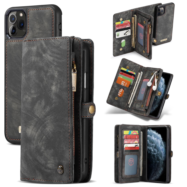 Multi-slot Lommeboksetui iPhone 11 Pro Max grå