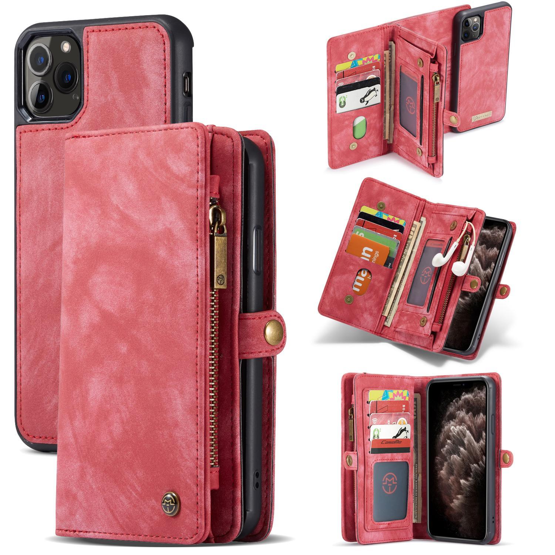Multi-slot Lommeboksetui iPhone 11 Pro Max rød