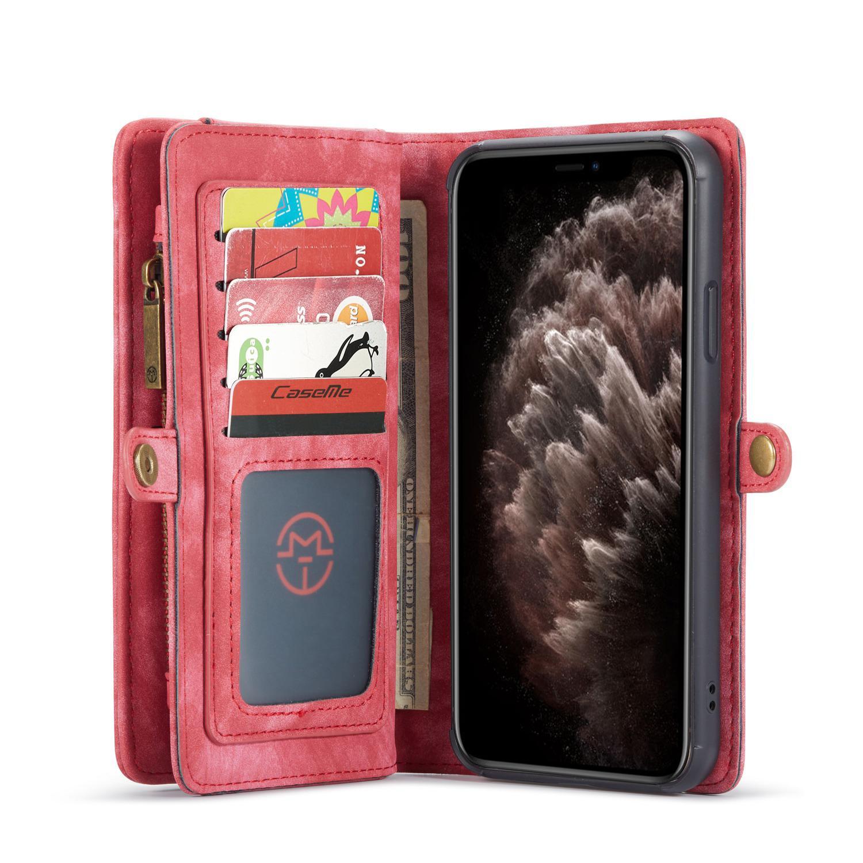 Multi-slot Lommeboksetui iPhone 11 Pro rød