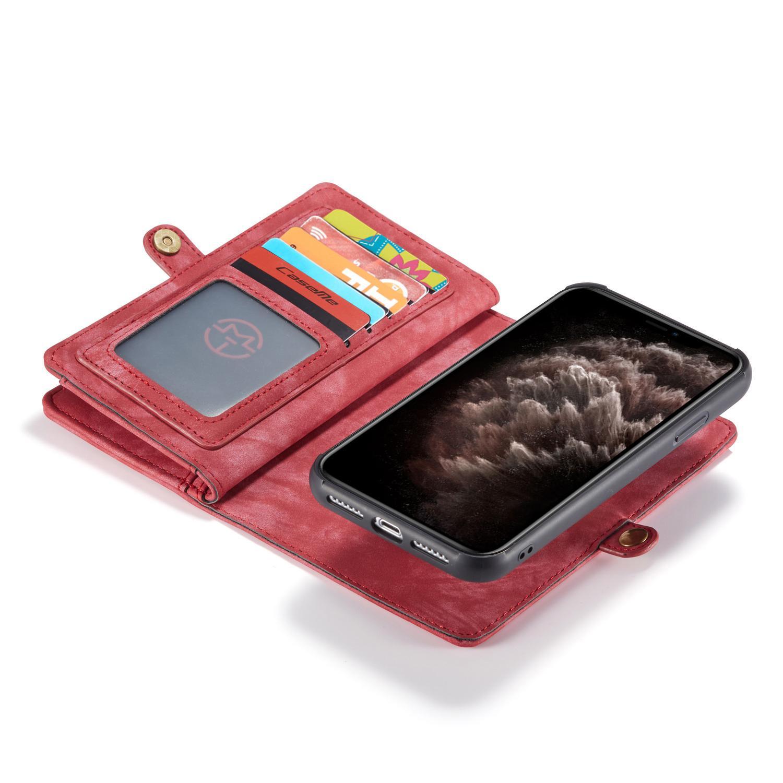 Multi-slot Lommeboksetui iPhone 11 rød