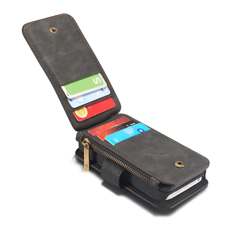 Multi-slot Flipdeksel iPhone 5/5S/SE grå