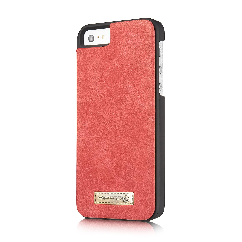 Multi-slot Flipdeksel iPhone 5/5S/SE rød
