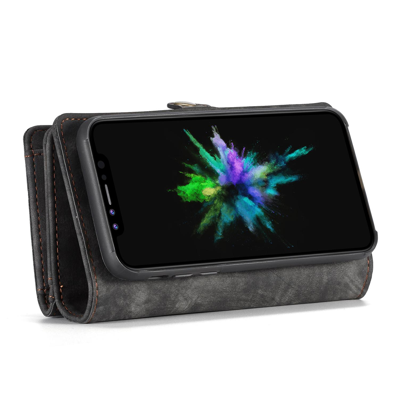 Multi-slot Lommeboksetui iPhone X/XS grå