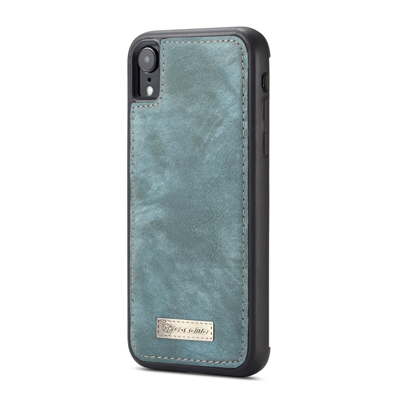 Multi-slot Lommeboksetui iPhone XR blå