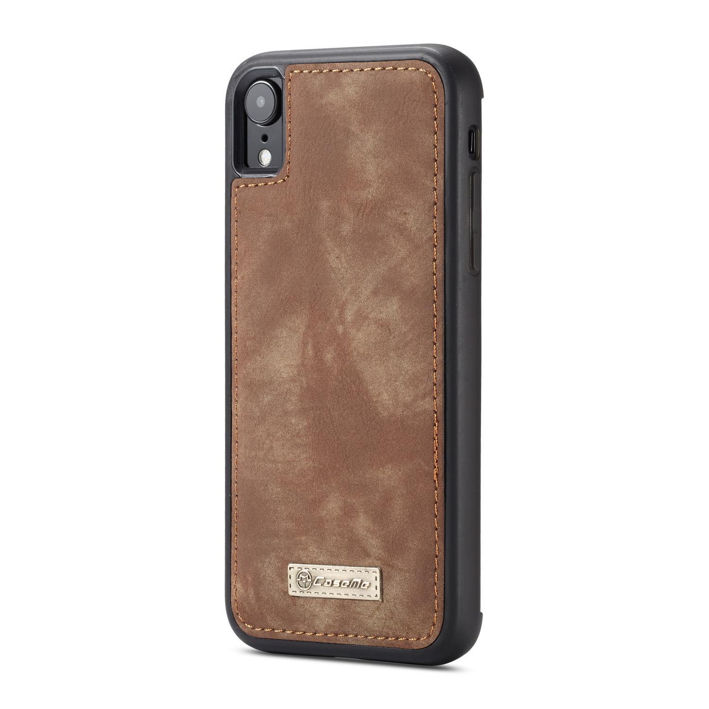Multi-slot Lommeboksetui iPhone XR brun