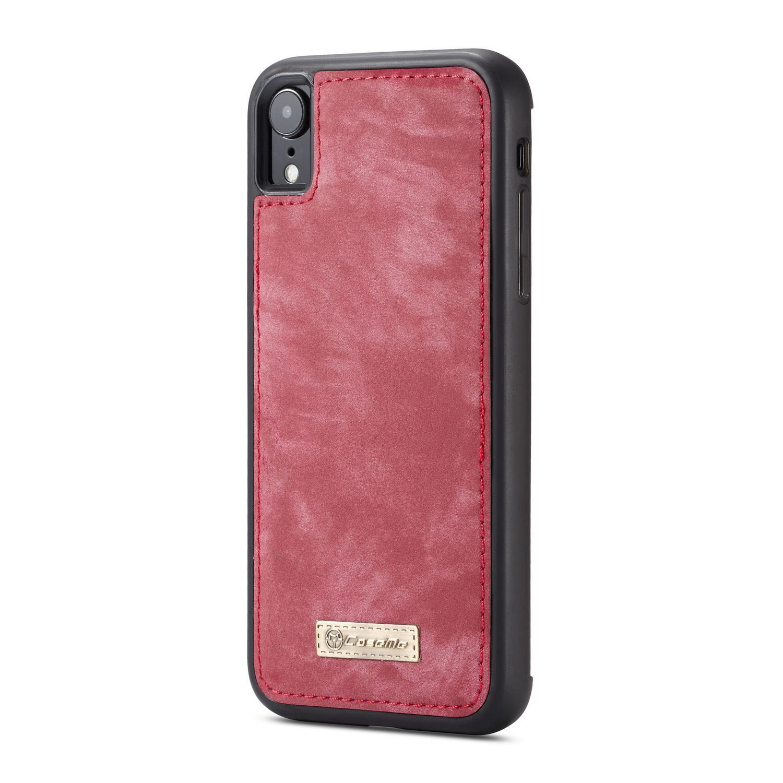 Multi-slot Lommeboksetui iPhone XR rød