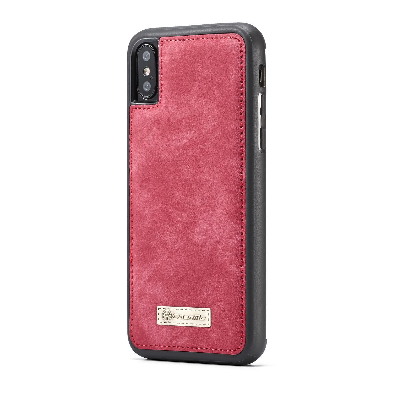Multi-slot Lommeboksetui iPhone XS Max rød