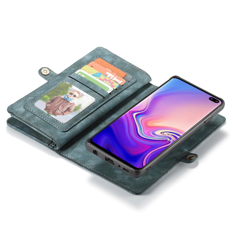 Multi-slot Lommeboksetui Samsung Galaxy S10 blå