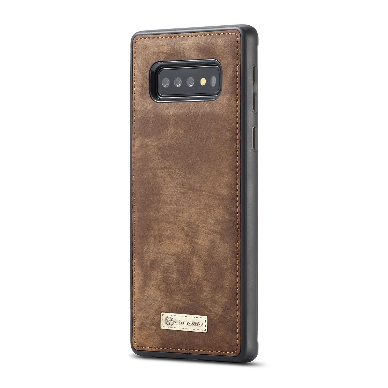 Multi-slot Lommeboksetui Samsung Galaxy S10 brun