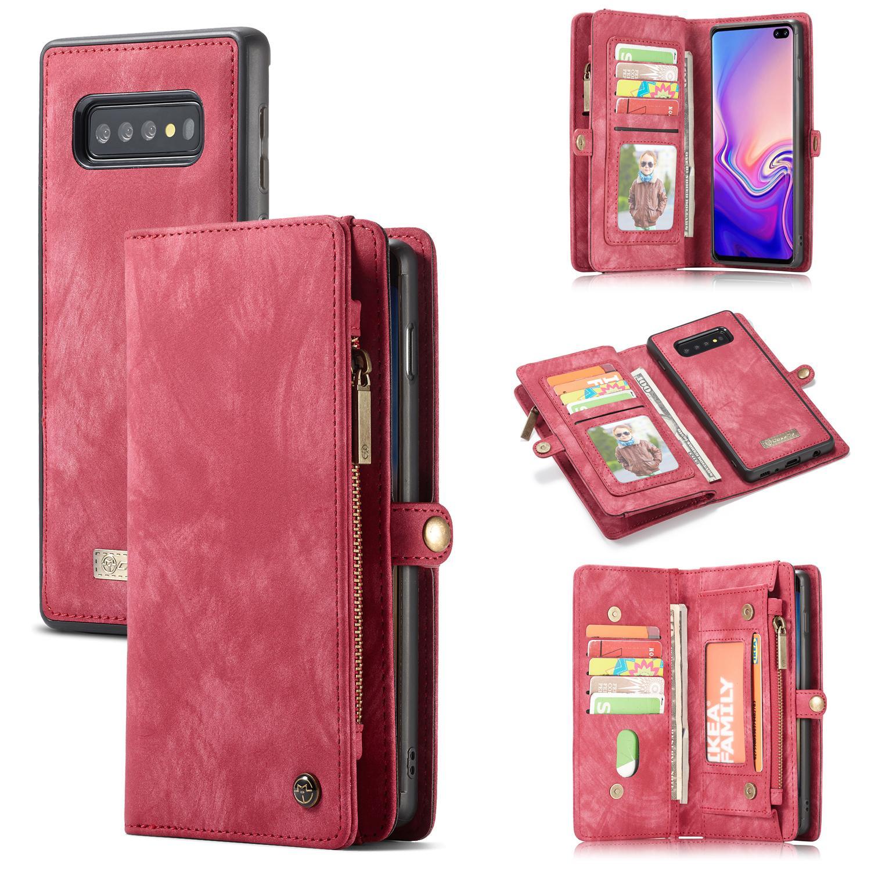 Multi-slot Lommeboksetui Samsung Galaxy S10 rød