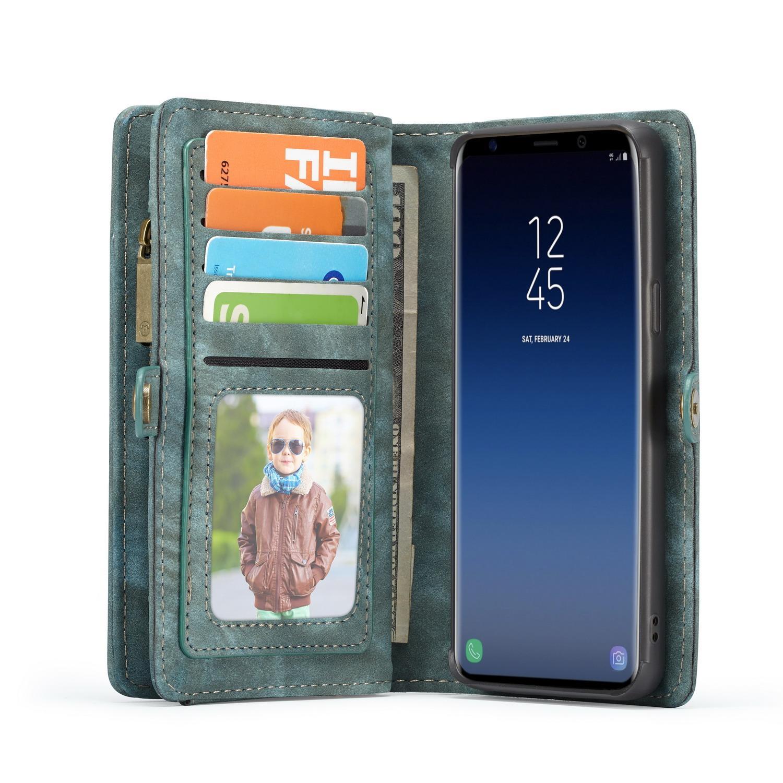 Multi-slot Lommeboksetui Samsung Galaxy S9 blå